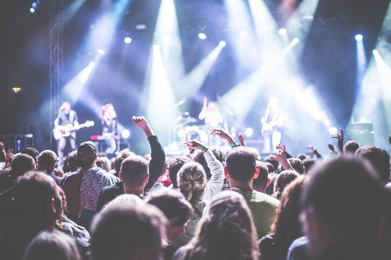 audience, band, celebration
